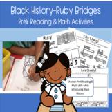Black History Ruby Bridges PreK Reading & Math Activities