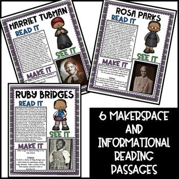Black History STEM Makerspace Task Cards {Read It, See It, Make It}