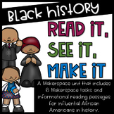 Black History STEM Makerspace Task Cards {Read It, See It,