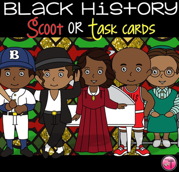 Famous African Americans in History Scoot With QR Codes|Black History