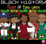 Famous African Americans in History Scoot With QR Codes|Bl
