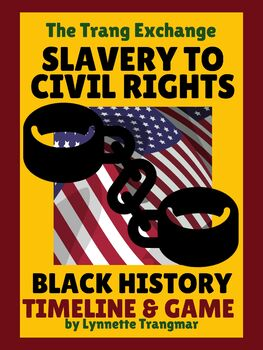 Black History Timeline Posters and Game:  Slavery to Civil Rights (FREE!)