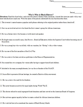 Black History Small Unit