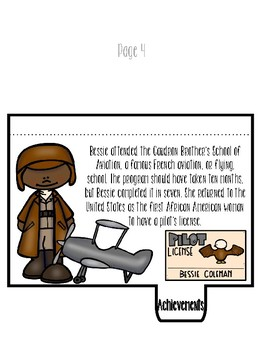 Black History Bessie Coleman Storybook flipbook