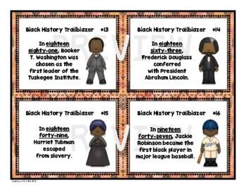 Black History Task Card Set