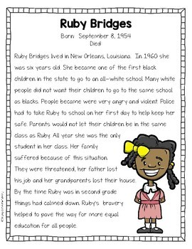 Black History Task Cards and Printables