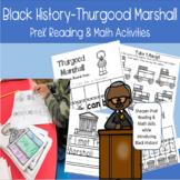 Black History Thurgood Marshall PreK Reading Math Activities