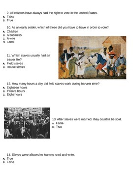 Black History Unit Test