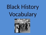 Black History Vocabulary PowerPoint
