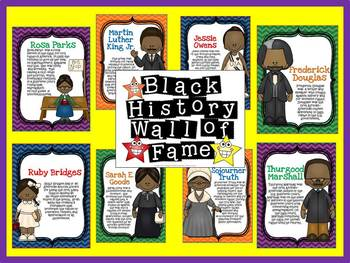 Black History Wall of Fame Bulletin Board