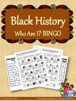 Black History Who Am I? Bingo