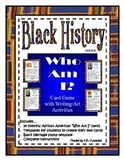 """Black History """"Who Am I?"""" Card Game with Writing & Art Activity"""
