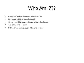 Black History Who Am I?...Powerpoint