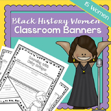 Black History Month Women | Classroom Banners | Printable Worksheets | Creative