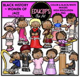 Black History ~ Women Of Jazz Clip Art Bundle {Educlips Clipart}