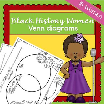 Black History Women Venn Diagrams | Printable Worksheets | Black History Month