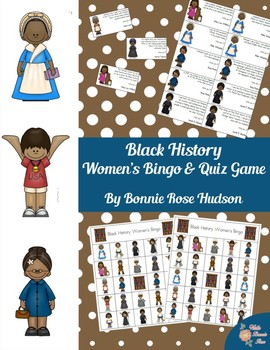 Black History Women's Bingo and Quiz Game