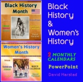 Black History Month & Women's History Month - Trivia Calendars (PowerPoint)