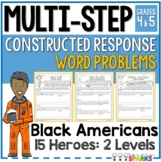 Black History Month Multi Step Word Problems Worksheets