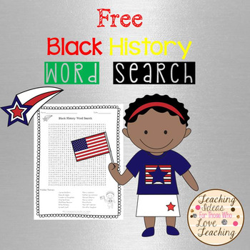 Black History Word Search