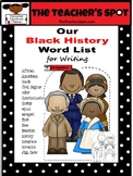 Black History Words for Writing