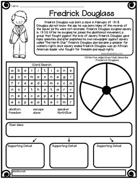 Black History Worksheets- Ten Famous African Americans Included!