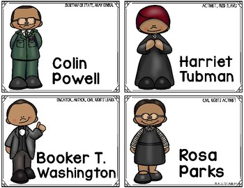 Black History Write the Room