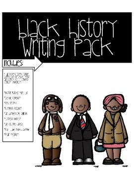 Black History Writing Tab Books Set