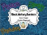 Black History and Friendship Bulletin Board Borders