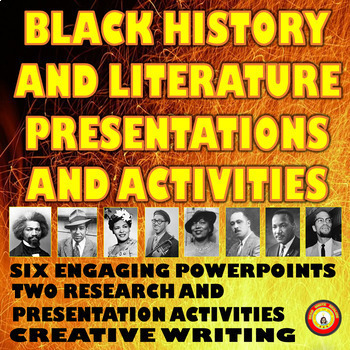 Black History and Literature Bundle of Presentations and Activities