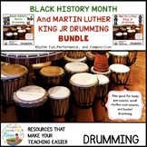 Black History and Martin Luther King Drumming Bundle