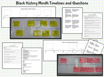 Black History and Martin Luther King Jr. Timeline and Questions