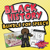 Black History Bundle (speech therapy or ELA)