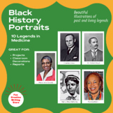 Black History Portraits: Legends in Medicine (Bulletin Boards, Projects)