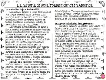 Black History in Spanish