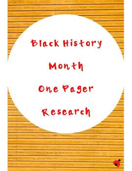 Black History month- one pager scientist research