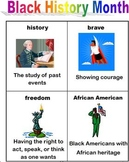 Black History/African American History vocabulary; cut and paste