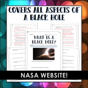 Black Hole - Webquest and Answer Key (NASA Website: What is a Black Hole?)