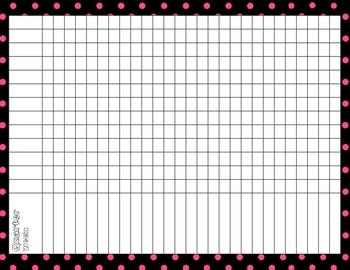 Black & Hot Pink Dot Teacher's Notebook