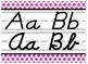 Black & Hot Pink Themed cursive and print alphabet strip