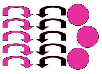 Black & Hot Pink Themed number line 0-100