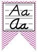 Black & Hot Pink themed print and cursive Alphabet banner
