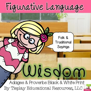 Adages and Proverbs Task Cards Activity in Black and White Print No Prep