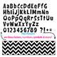 Black Ink Bulletin Board Letters - Chevron 1D