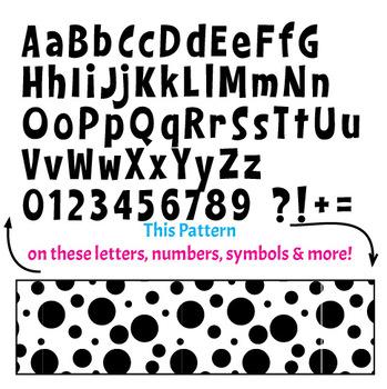 Black Ink Bulletin Board Letters - Dots 1D