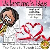 Valentine's Day 8 Parts of Speech Grammar Activity Black a