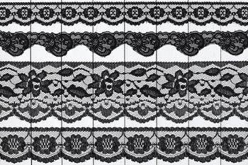 Black Lace Borders Clipart, Floral Lace Borders, Black Borders Clipart