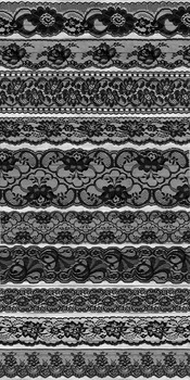 Black Lace Borders Clipart Scrapbook Embellishments