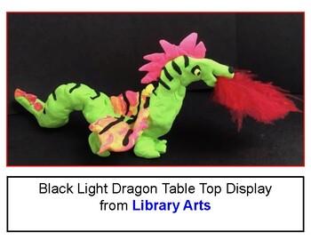 Black Light Dragon Sculpture Activity Kit