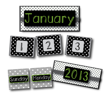 Black & Lime Calendar Pack